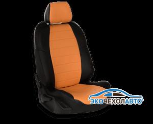 Черные края, оранжевая основа